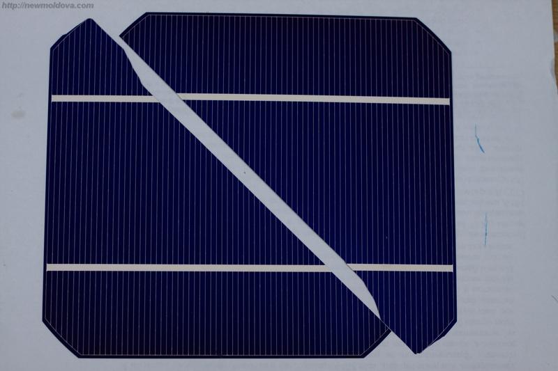 Разбитая ячейка для солнечной батареи