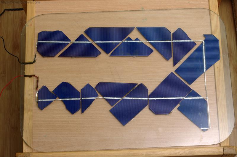 Солнечная батарея из колотых элементов